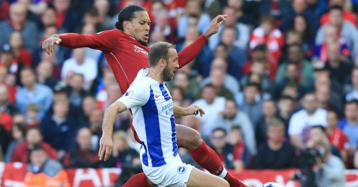 Virgil van Dijk Liverpool Glenn Murray Brighton