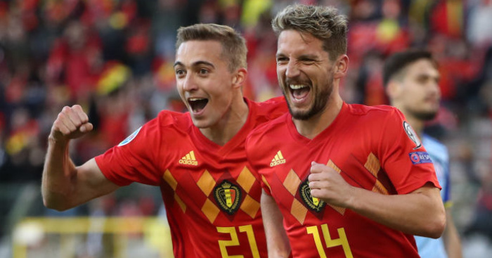 Timothy Castagne, Dries Mertens