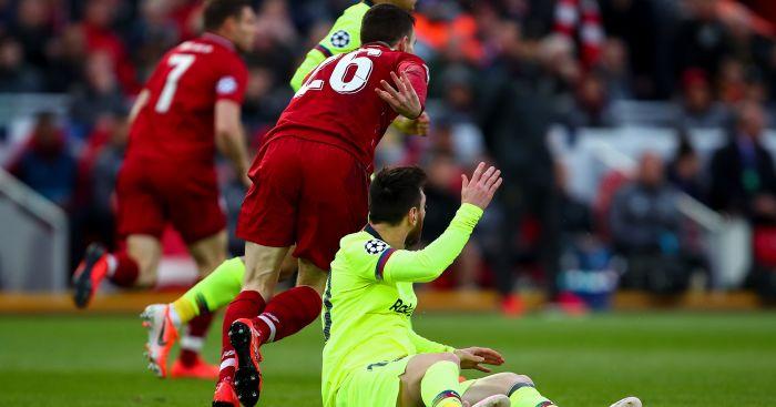 Andy Robertson Lionel Messi TEAMtalk