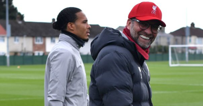 Jurgen Klopp training