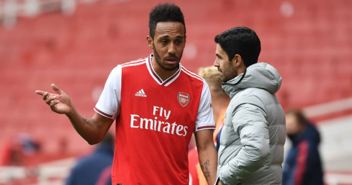 Aubameyang Arteta Arsenal TEAMtalk