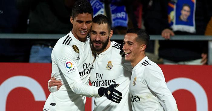Raphael.Varane, Karim Benzema, Lucas Vazquez