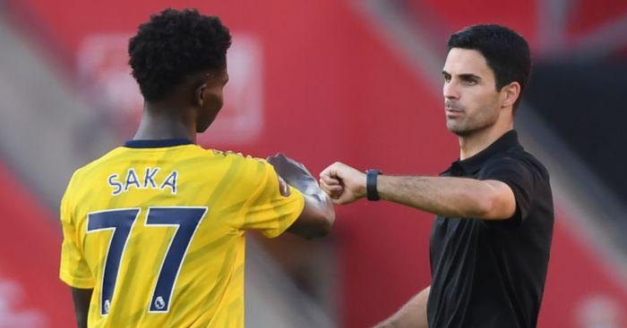 Bukayo Saka, Mikel Arteta Arsenal TEAMtalk