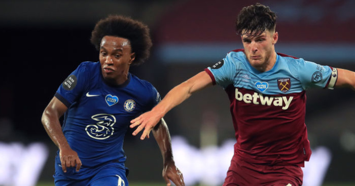 Lampard makes Willian position clear as Declan Rice talk fades at Chelsea - team talk