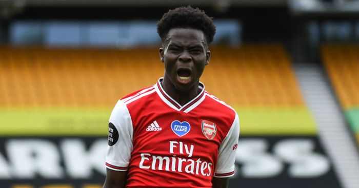 Bukayo Saka Arsenal TEAMtalk