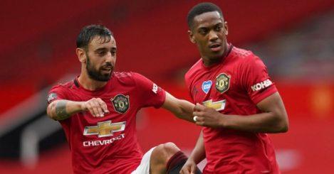 Bruno Fernandes, Anthony Martial Man Utd TEAMtalk