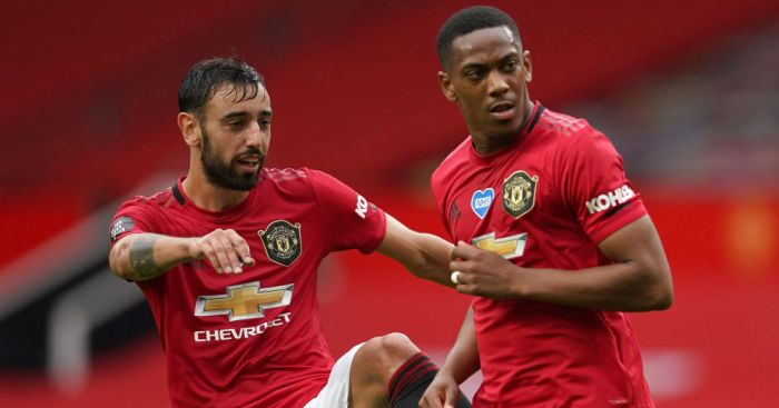 Bruno Fernandes, Anthony Martial Man Utd TEAMtalk