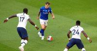 Tottenham v Everton. Sissoko, Digne, Aurier TEAMtalk