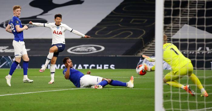 Sohn Heung-min, Jordan Pickford Tottenham Everton TEAMtalk