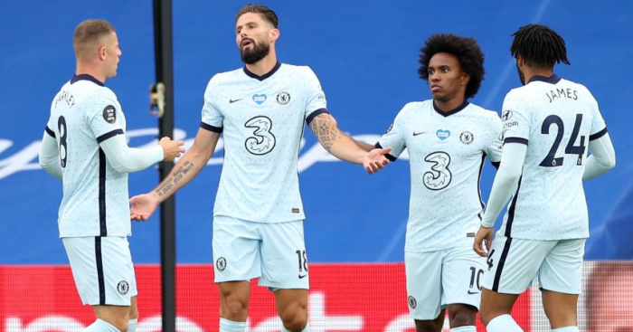 Giroud.Chelsea.Getty  - Chelsea forwards fire in frantic 3-2 victory over resilient Crystal Palace