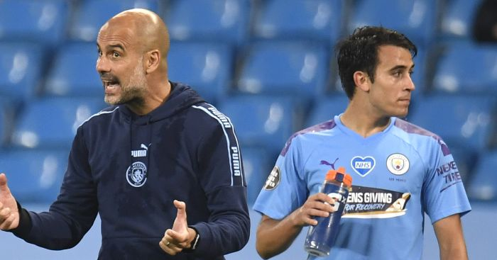 Pep Guardiola Eric Garcia Manchester City TEAMtalk