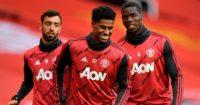 Bruno Fernandes, Marcus Rashford, Paul Pogba Man Utd