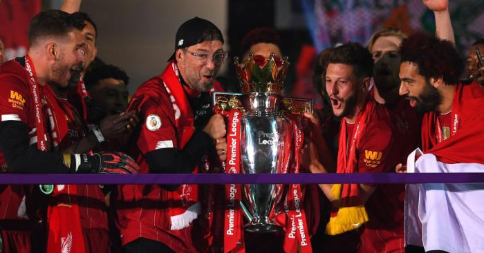 Klopp gives ecstatic reaction after Liverpool finally lift Premier ...