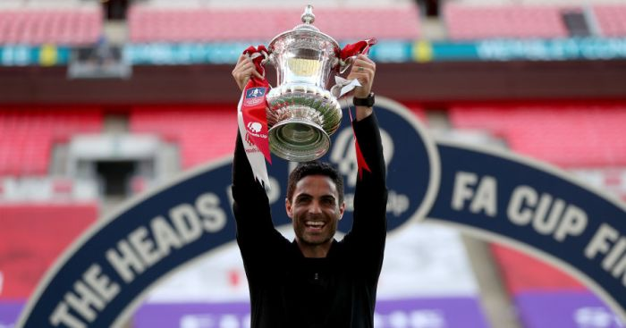 Arteta hints at Aubameyang promise after first Arsenal trophy as coach