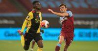 Ismaila Sarr, Aaron Cresswell Watford, West Ham