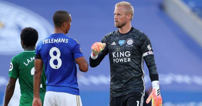 Youri Tielemans, Kasper Schmeichel Leicester