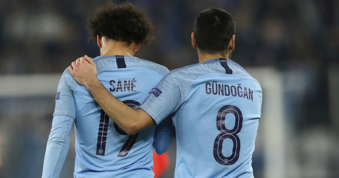 Gundogan Sane Man City TEAMtalk