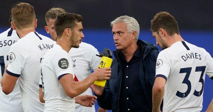 Harry Winks, Jose Mourinho, Ben Davies Tottenham