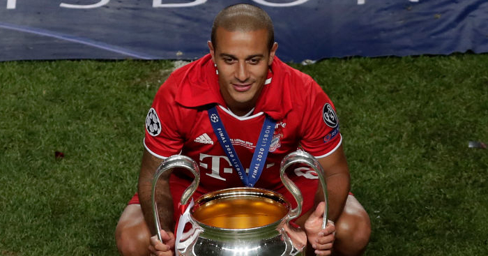 Thiago Alcantara, Champions League trophy
