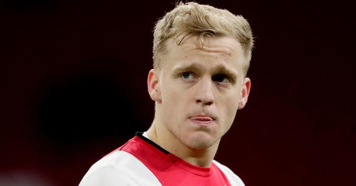 Donny van de Beek - Dutch star tried to tempt Van de Beek to Tottenham before Man Utd move