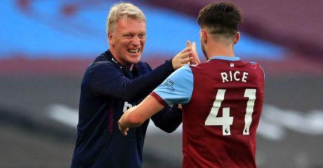 David Moyes, Declan Rice West Ham