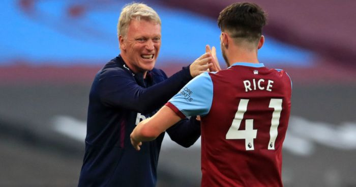 David Moyes, Declan Rice West Ham