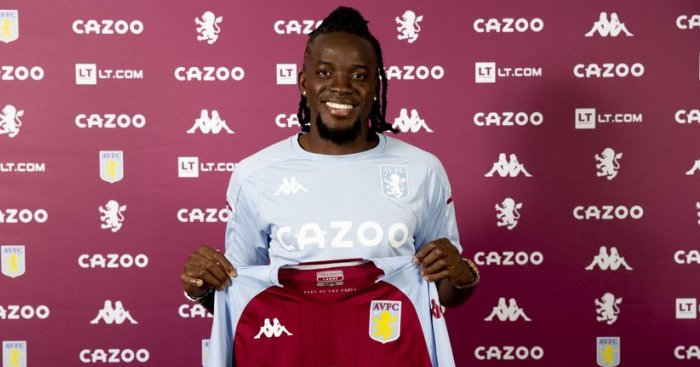 Bertrand Traore - pic via avfc.co.uk
