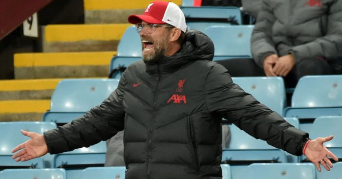 Jurgen Klopp Aston Villa Liverpool TEAMtalk - Red Letter: Three problems for Klopp which have Liverpool fans doubting in crazy start to season