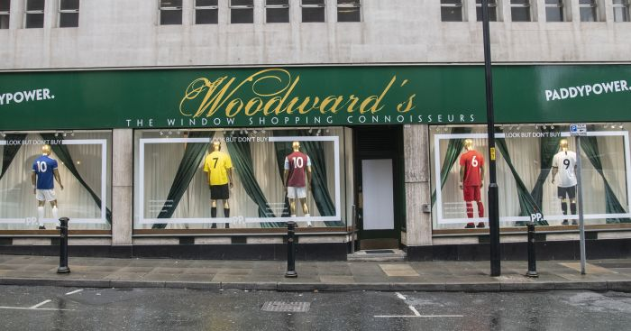 Paddy Power shop window Woodward's