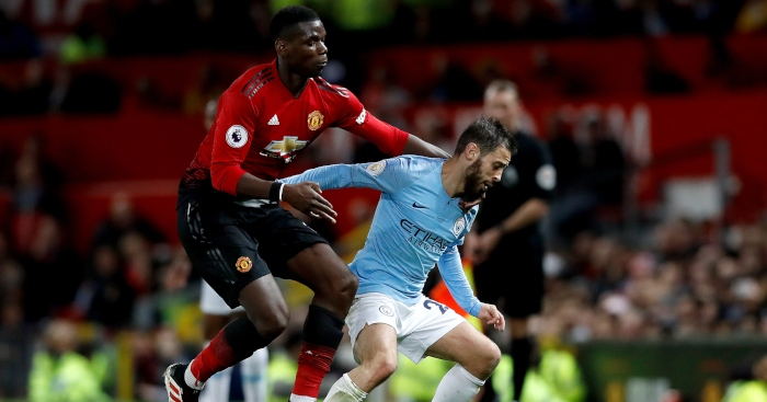 Paul Pogba Bernardo Silva Manchester United Manchester City - Savage blasts two Manchester United players after 6-1 horror show