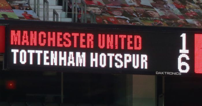 Man Utd 1-6 Tottenham TEAMtalk
