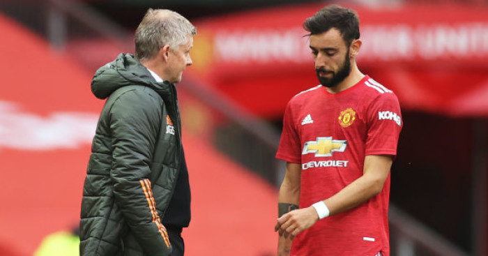 Ole Gunnar Solskjaer Bruno Fernandes - Van de Beek issues Solskjaer plea over new Man Utd role to get minutes