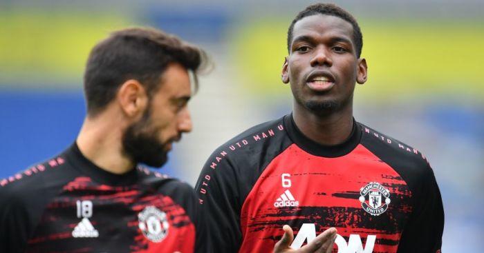 Bruno Fernandes, Paul Pogba Man Utd