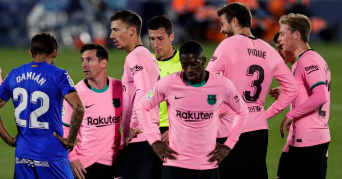 Barcelona's 'unity broken' as first-team quartet break away and sign new deals - team talk