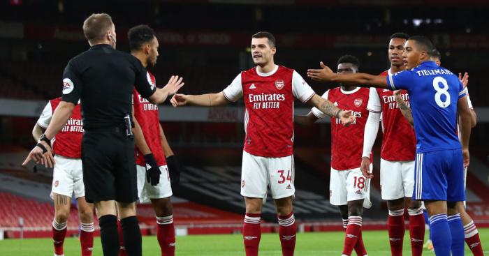 Xhaka.Arsenal.TEAMtalk - Arteta baffled by disallowed Arsenal goal; Rodgers revels in Leicester win