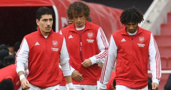 Hector Bellerin, David Luiz, Mohamed Elneny
