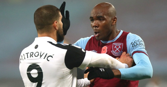 Aleksandar Mitrovic Angelo Ogbonna - West Ham snatch last-gasp win as Fulham fluff late Panenka penalty