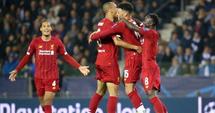 Virgil van Dijk, Fabinho, Naby Keita, Alex Oxlade-Chamberlain Liverpool