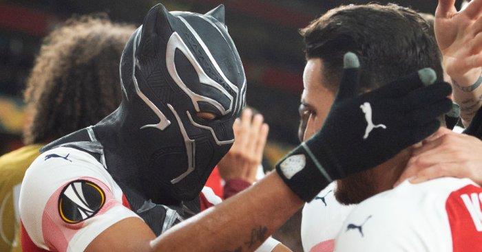 Pierre-Emerick Aubameyang Black Panther celeb