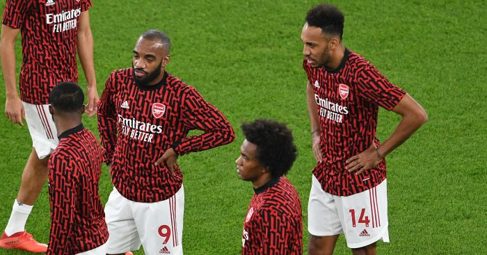 Lacazette, Willian, Aubameyang Arsenal TEAMtalk