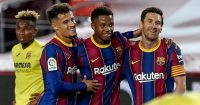 Philippe Coutinho, Ansu Fati, Lionel Messi TEAMtalk