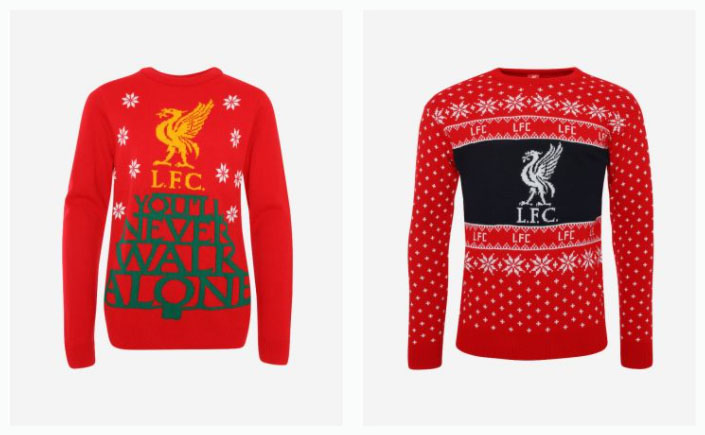 Liverpool Christmas jumpers
