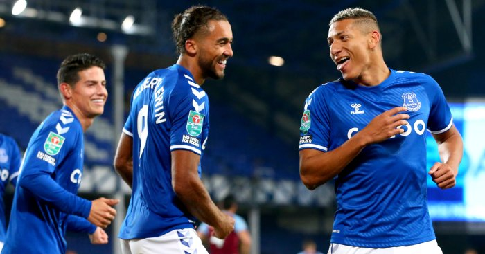 James Rodriguez, Dominic Calvert-Lewin, Richarlison