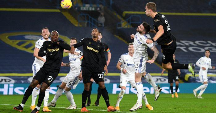 Tomas Soucek scores v Leeds United