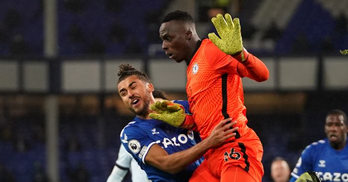 Edouard Mendy pays the price for rare mistake as Chelsea lose at Everton