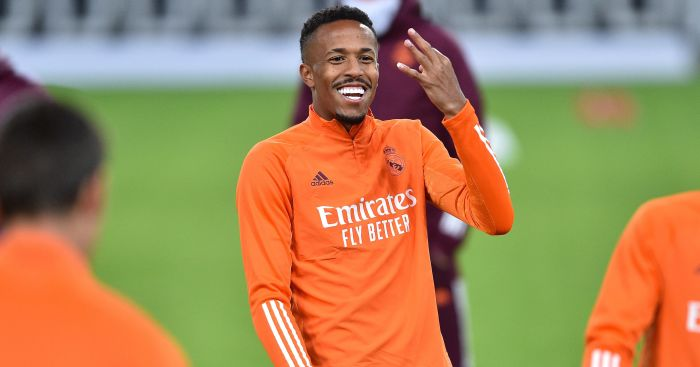Liverpool taregt Eder Militao in training
