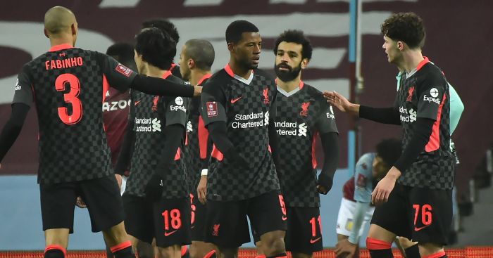 Fabinho, Mohamed Salah, Georginio Wijnaldum Liverpool