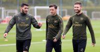 Sead Kolasinac, Mesut Ozil, Shkodran Mustafi Arsenal TEAMtalk