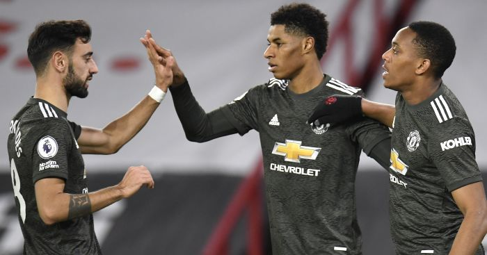 Fernandes, Rashford, Martial Man Utd TEAMtalk
