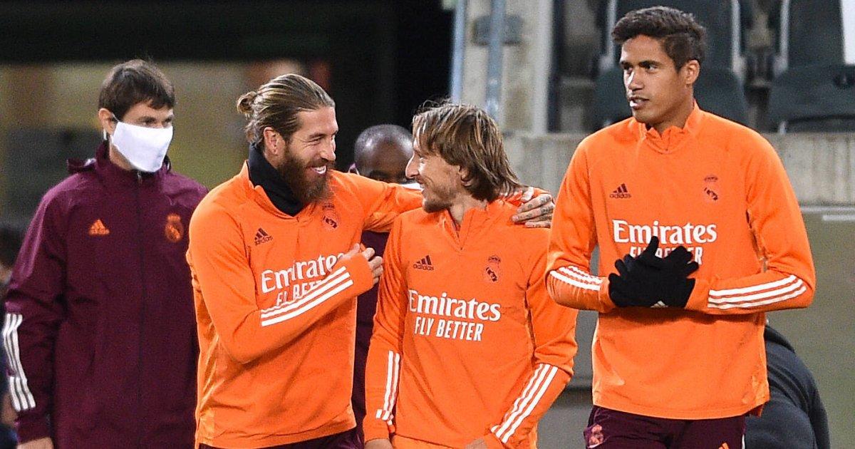 Sergio Ramos, Luka Modric, Raphael Varane Real Madrid